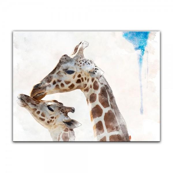 Leinwandbild - Aquarell - Giraffe