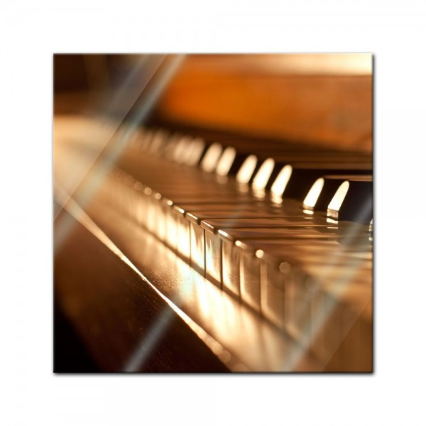 Glasbild - Klavier