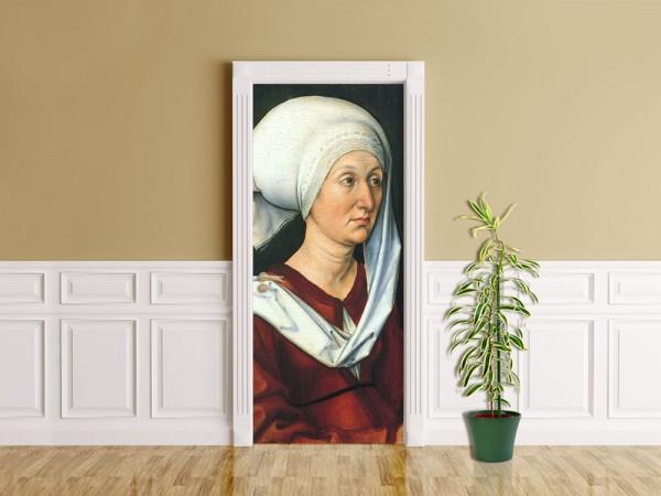 Türaufkleber Albrecht Dürer - Alte Meister - Portrait - Barbara Dürer