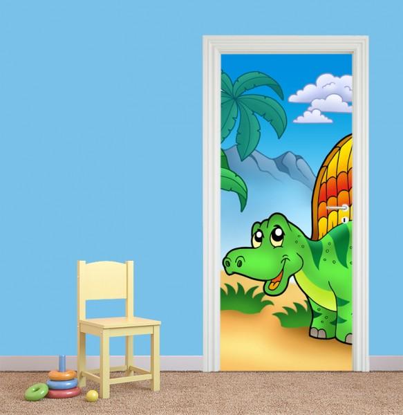 Türaufkleber - Kinderbild - Kleiner Dinosaurier
