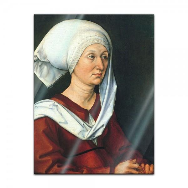 Glasbild Albrecht Dürer - Alte Meister - Portrait - Barbara Dürer