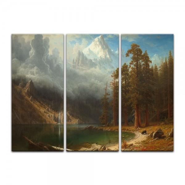Leinwandbild - Albert Bierstadt - Mount Corcoran