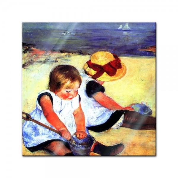 Glasbild Mary Cassatt - Alte Meister - Kinder am Strand