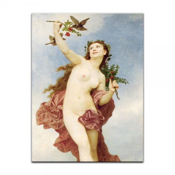 Leinwandbild - William-Adolphe Bouguereau - Der Tag
