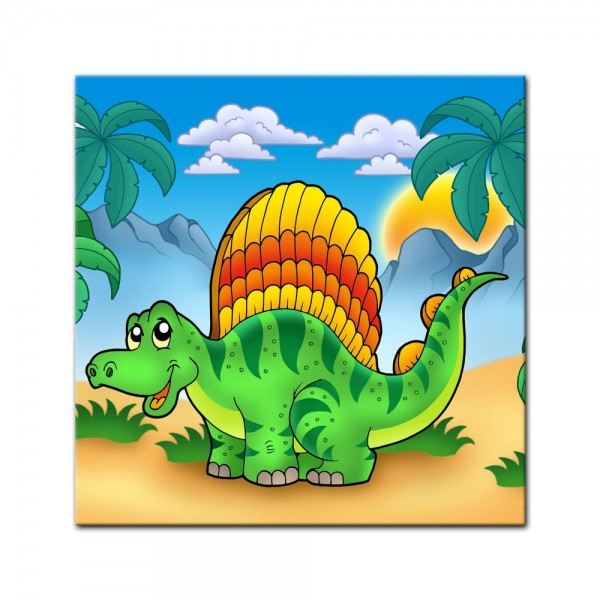 Leinwandbild - Kinderbild - Kleiner Dinosaurier