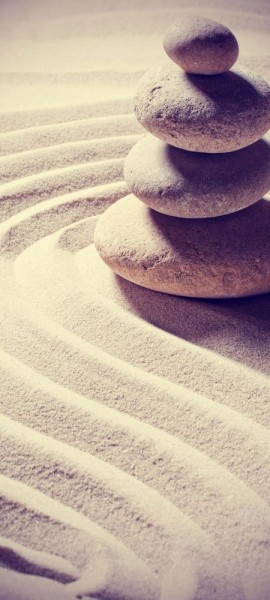 Türtapete selbstklebend Relaxing Vintage 90 x 200 cm Ruhe Kraft Motiv Geist Seele Stein Sand Zen