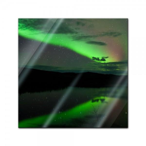 Glasbild - Nordlichter I