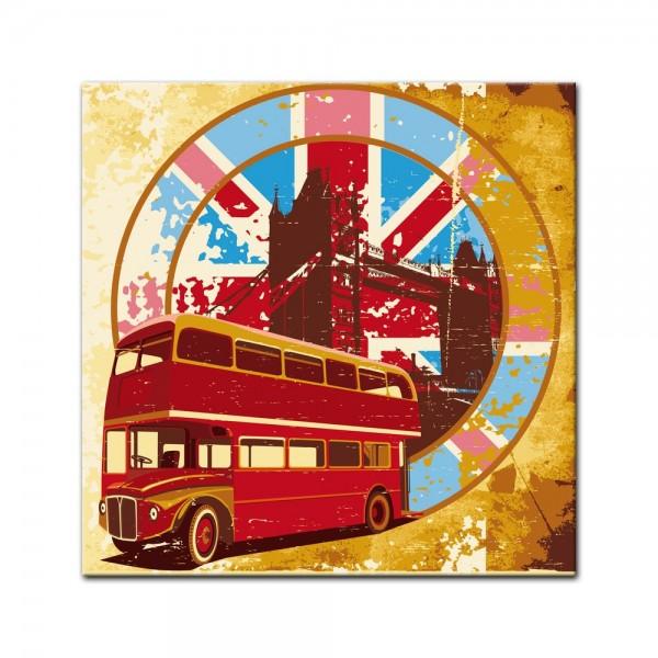 Leinwandbild - London Retro
