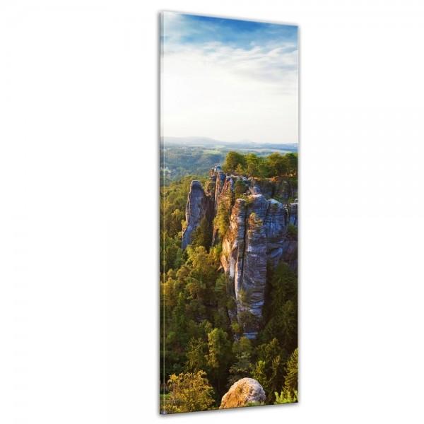 SALE Leinwandbild - Elbsandsteingebirge - Sächsiche Schweiz - 40x120 cm