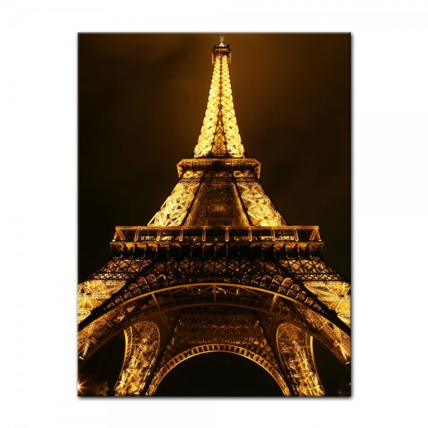 Leinwandbild - Eiffelturm by Night - Paris Frankreich