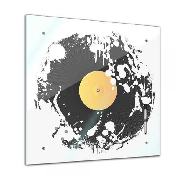 Memoboard - Männermotive - Grunge Schallplatte - 40x40 cm