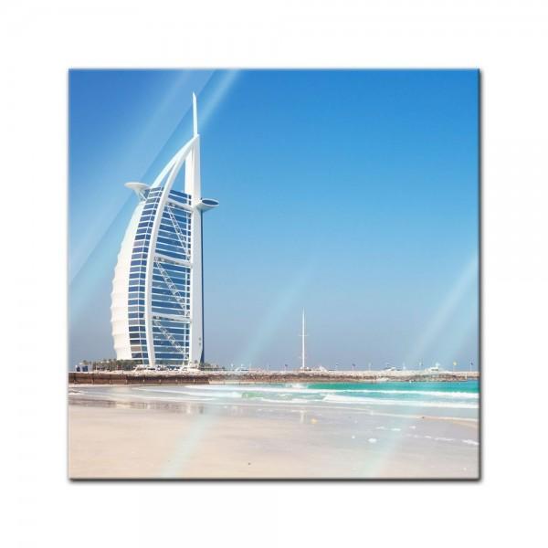 Glasbild - Burj al Arab Hotel in Dubai II