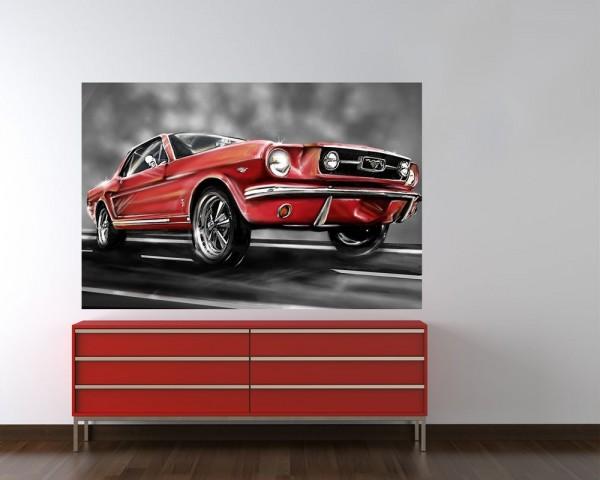 Fototapete - Mustang Graphic