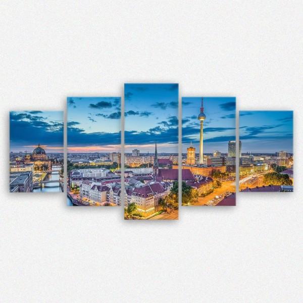 Leinwandbild Berlin Skyline Deutschland