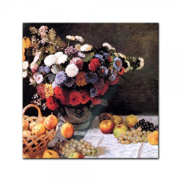 Glasbild Claude Monet - Alte Meister - Blumen und Früchte