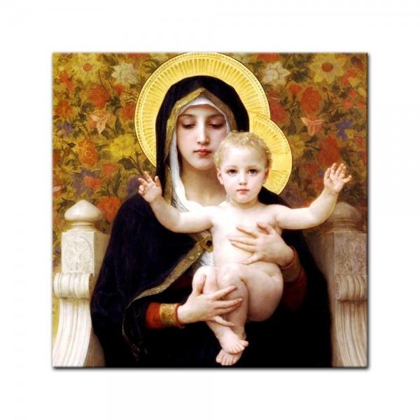 Leinwandbild - William-Adolphe Bouguereau - Madonna mit Kind