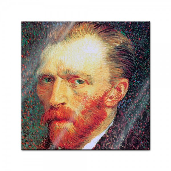 Glasbild - Vincent Willem van Gogh - Selbstporträt
