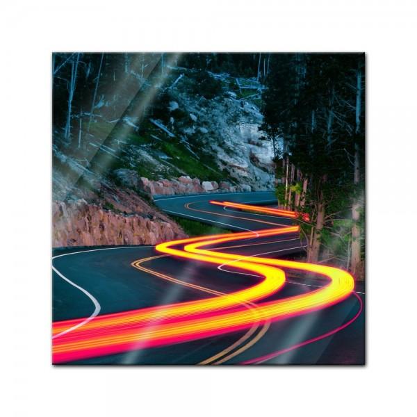 Glasbild - Grand Loop Road - Wyoming