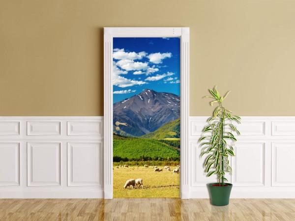 Türaufkleber - Berglandschaft - Neuseeland