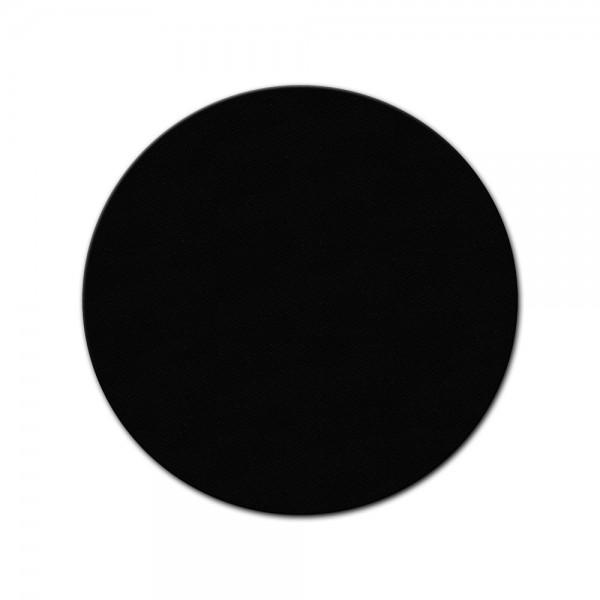 bemalbare Leinwand in schwarz - Rund