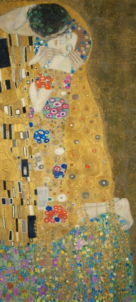Türtapete selbstklebend - Gustav Klimt - der Kuss 90 x 200 cm Maler Alte Meister Liebe Kunst Kiss J