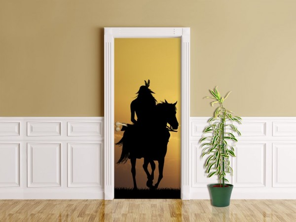 Türaufkleber - Crazy Horse