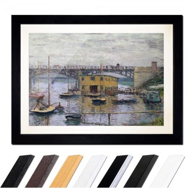Claude Monet - Brücke bei Argenteuil an einem grauen Tag