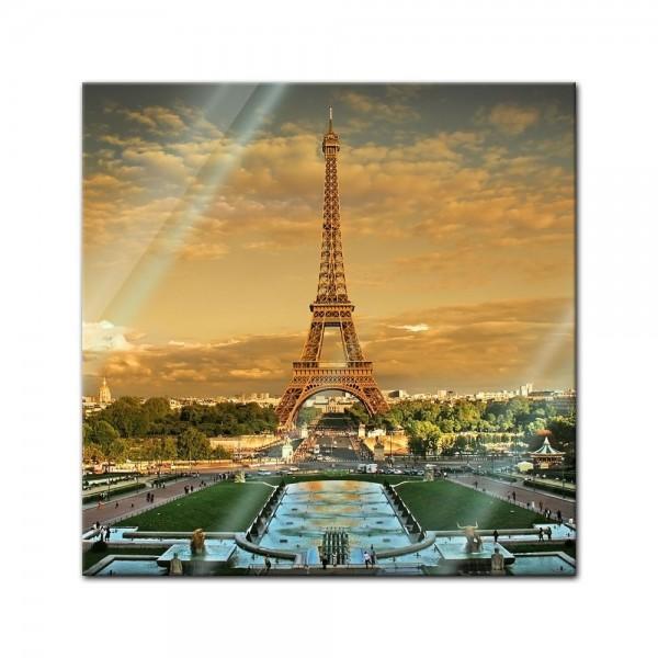 Glasbild - Pariser Eiffelturm II