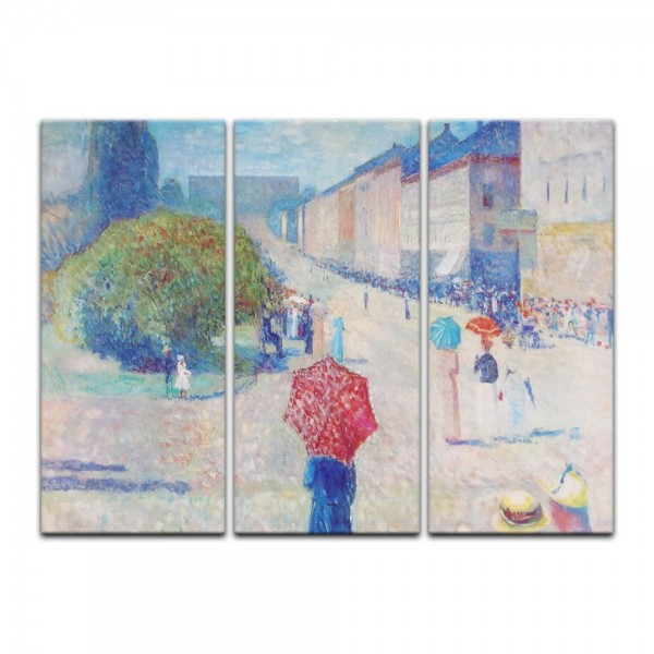 Leinwandbild - Edvard Munch - Frühling auf der Johan-Karl-Straße