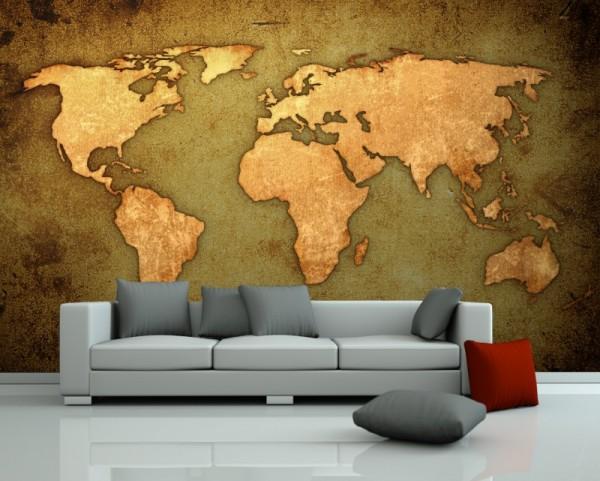Fototapete Weltkarte