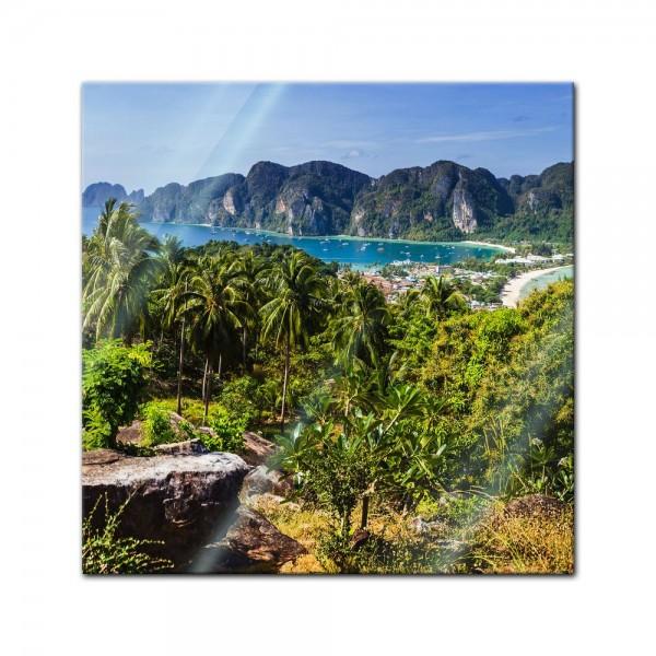 Glasbild - Blick auf Phi Phi Island - Thailand