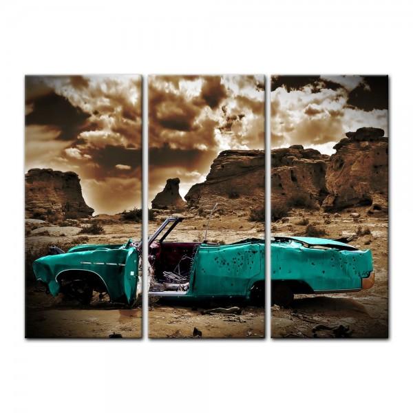 Leinwandbild - Cadillac - türkis sepia