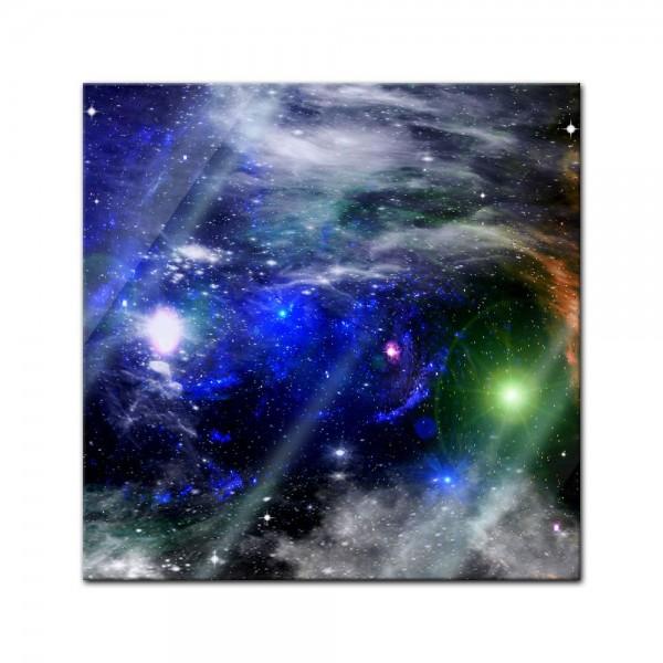 Glasbild - Galaxie