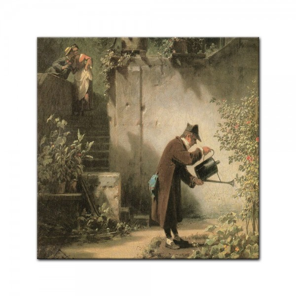 Leinwandbild - Carl Spitzweg - Der Blumenfreund