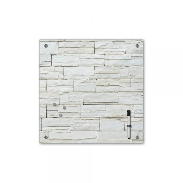 Memoboard - Textur & Hintergrund - Mauerwerk - 40x40 cm