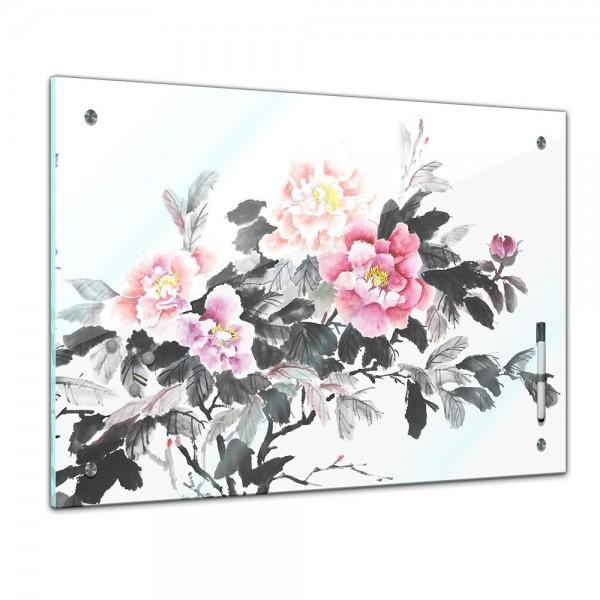 Memoboard - Aquarelle - Chinesische Blume II