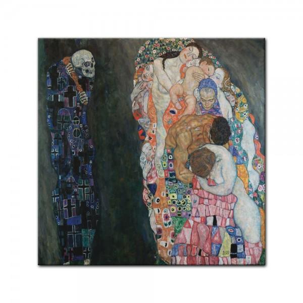 Leinwandbild - Gustav Klimt - Tod und Leben