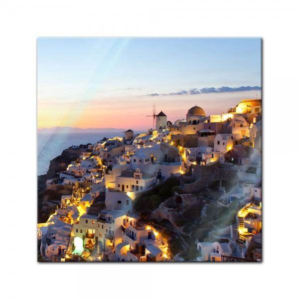 Glasbild - Oia Village Santorini - Griechenland
