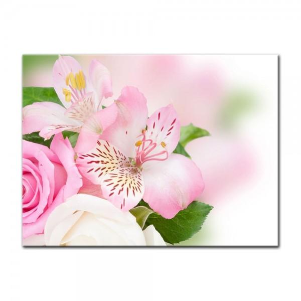 Leinwandbild - Blumengesteck