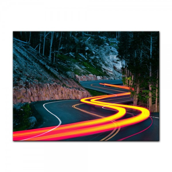 Leinwandbild - Grand Loop Road - Wyoming