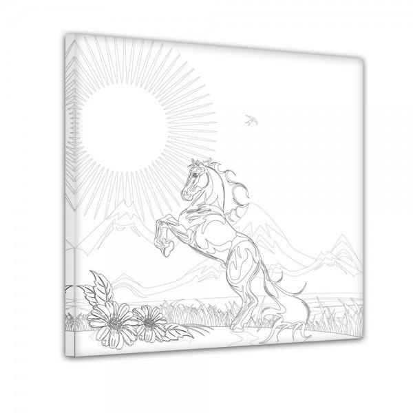 Pferd - Ausmalbild