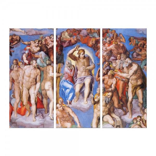 Leinwandbild - Michelangelo - Jüngstes Gericht - Detail