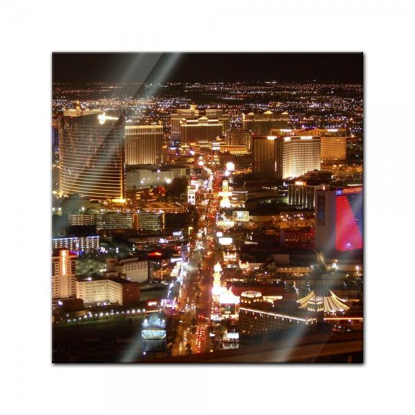 Glasbild - Las Vegas Strip bei Nacht