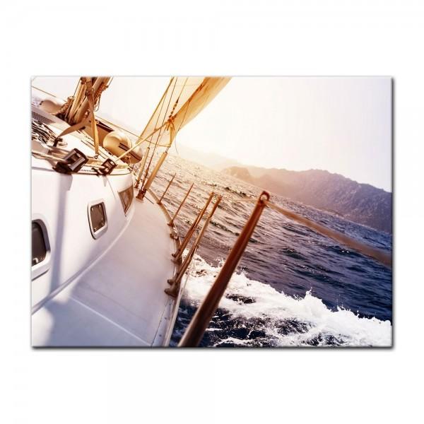 Leinwandbild - Yacht auf See