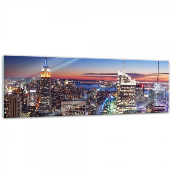 Glasbild - New York New York - 120x40 cm