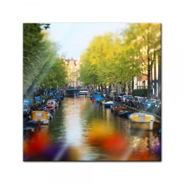 Glasbild - Amsterdam - Niederlande
