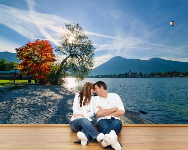 Fototapete - Schöner Morgen am See