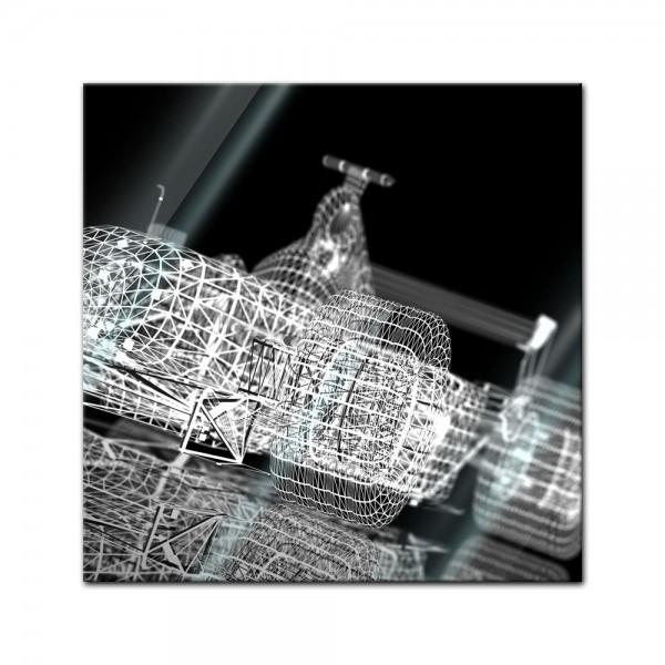 Glasbild - Formel 1 Rennwagen