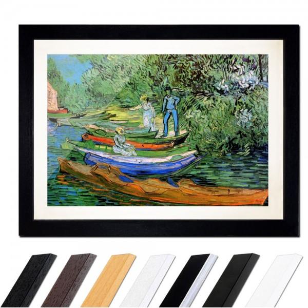 Vincent van Gogh - Boote am Ufer der Oise