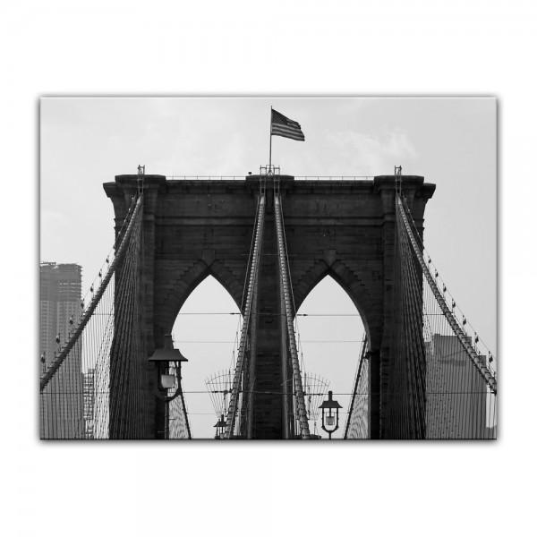 Leinwandbild - Brooklyn Bridge USA 2